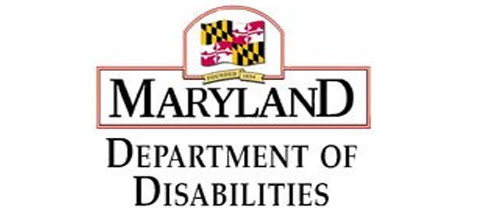 Maryland Department of Disabilities Logo with the Maryland flag.
